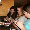 ME and my friends making my cookie cake it was so fun it was my b-day sleep over!!:) macdizzydail photo