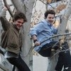 Robert and Jimmy Falon in a tree Robsessedcullen photo
