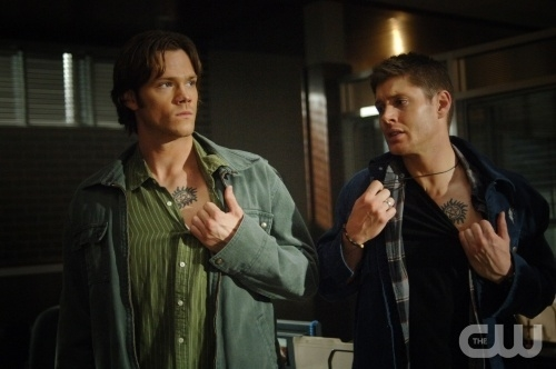 What episode did Sam and Dean show there tattoos? Can't remeber! What episode did Sam and Dean show there tattoos?