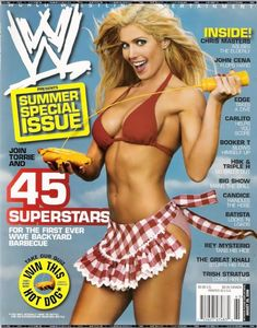 Was this Torrie Wilson cover for WWE magazine her last?