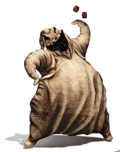 yes, oogie boogie is a Disney villain. Here's a picture of it.