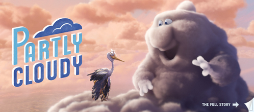 When I went there was a short before UP called PARTLY CLOUDY. I don't no why you didn't see one but I think when UP comes out on DVD they might have the short as a bonus feature.