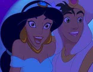 When they sing the song <A WHOLE NEW WORLD>