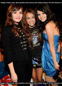 between who? demi? selena? miley? who? but between those i would pick all!