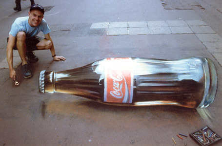 the coke's a drawing. That's some serious skill!!!!