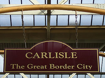 If u look at the map of England and u kruis a city called Carlisle. What's the *first* thing that's comes in your mind.