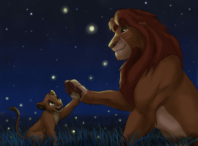 maybe because scars an outlander well born to be one and simba and mufasa r prideland lions