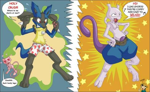 mew would be a girl,because mew like lucario so much.