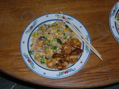 What do this of the Honey chicken and fried kanin I made for Tecnology?