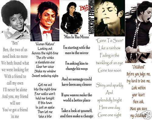 random Michael Jackson songs all day!!! Michael will leave for ever through his music,his dance,his voice and his self!!! He is not accidentally the KING OF POP!!! His songs are stuck to my head and I wan them to! Michael was,is and will allways be in our hearts!!!