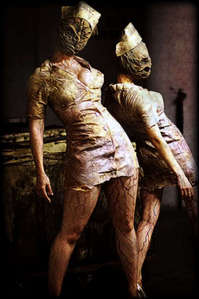 thats awesome. i never thought of that. this is what im gonna be for halloween. im gonna be a silent hill nurse from silent hill, but im not going to be a hoochie like them.