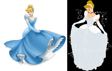 Why is it that Cinderella's dress is always portrayed as blue, when it was white in the movie?