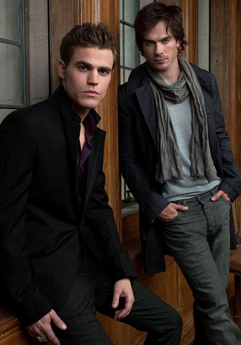 They do look alike, but who knows, maybe this is payback for Steph ripping off the whole story all together. Vampire Diaries came out long before Twilight was even thought of. So, maybe they are copying Edward's look, but Steph ripped off the whole story, so I think some imagery can be ripped off. Also, Stefan is way better looking with a much better build. Edward is way too skiny for my liking.