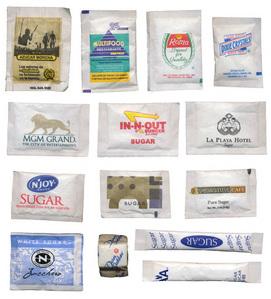 Sugar Packets... =] From everywhere my mga kaibigan and I go...