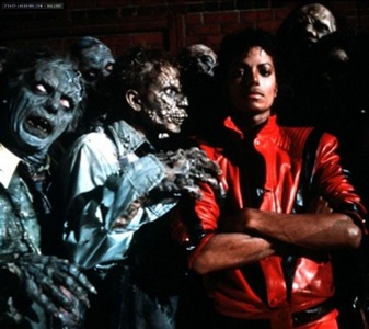 Remake?Holy shit.That freaking asshole is making the thriller?Can she even dance like Michael au sing like him?Hey Miley piss off.Leave michael and his world famous thriller alone.Don't screw him up.Understood?