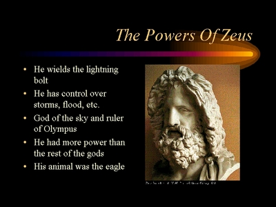 <a href='http://en.wikipedia.org/wiki/Zeus#Zeus_miscellany'>His wikipedia</a> has a good सूची of things he's done. Also, here's a picture which lists his qualities: