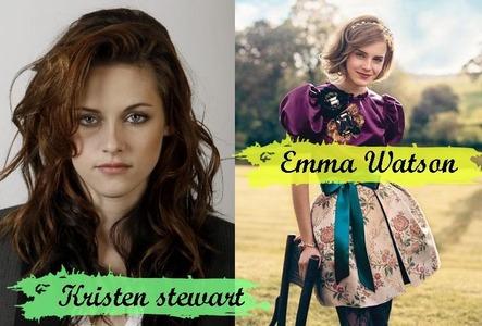 ok which is actress anda think prettier. kristen stewart atau emma watson?