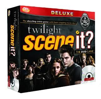"""It is thought the Twilight 'Scene It?' game will come out sometime in October 2009. Although Screenlife the company that makes the 'Scene It?' games has said; """"the game is still in the very early stages of development"""" and that they don't want to """"inadvertently mislead excited fans"""" until the final features and box art are determined. So it may happen of it may not, but I don't see why they wouldn't go through with it becasue of all the money they could make from Twilight's mass popularity. The picture i have added is a possible concept of the box art."""