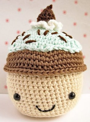 Do आप like my knitted cupcake?