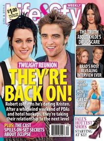 True または False : According to Life & Style Magazine , Robert confirmed to them that him & Kristen are dating .