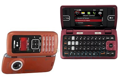 The one in the picture u added is an oranje LG enV. In season 2 the uses the maroon LG enV2. :)