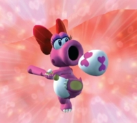 Birdo character wears a red bow, a diamond ring, and appears to have a close relationship with Yoshi! It's clear to me that she is a female!