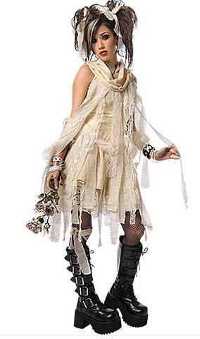 What do Ты think of this for a Хэллоуин costume? A Готика Mummy.