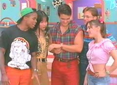 """A is the right answer. Billy Cranston (Blue), Jason Lee Scott (Red), Kimberly Ann Hart (Pink), Trini Kwan (Yellow) and Zackary """"Zack"""" Taylor (Black)"""