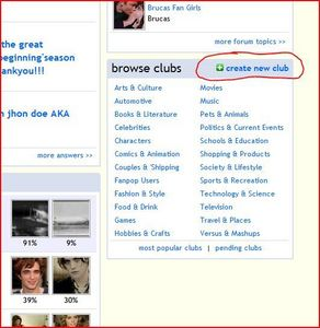 """Go to the main page, and scroll down to the bottom right corner. There should be a box that says """"browse clubs"""", and volgende to it says """" create new club."""""""