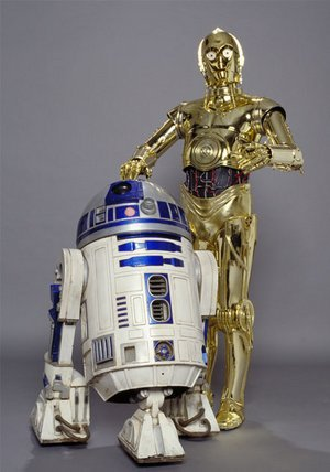 Obi-Wan, r2d2 and c3po