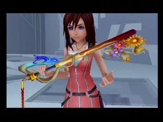 I Think Cause She's The Princess Of hati, tengah-tengah And A Pure Hearted Girl And Riku Gave That Keyblade To Fight For Herself When Sora atau Riku Isn't There When She's In Danger