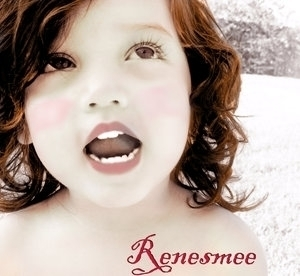 She puts her thoughts in your mind when she touches you. It's like the opposite of Edward's gift, he reads people's minds, but Renesmee would let someone read hers in a way.