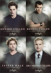 Edemmjaslisle!!!! Or maybe (if we're talking about actors) Robkelljackter!!!!  I don't really know in which order, but I can't decide between them <3<3<3  PS:  Edemmjaslisle = Edward, Emmett, Jasper and Carlisle Robkelljackter = Robert, Kellan, Jackson and Peter  They're not in this order because I like more the first than the second, the second thatn the third, and the third than the fourth. It's only 'cause the names sound like sort of cool, but it's not the order....I have no order for them, I love them all equally!!!!