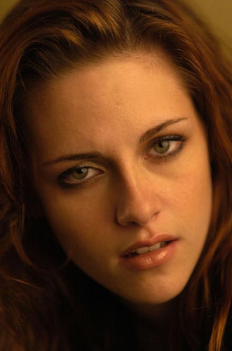 there are better pics of her in new moon but this one is kewl too! yeah actually is like her face grew up..! she became meer beautiful and i like her a lot!