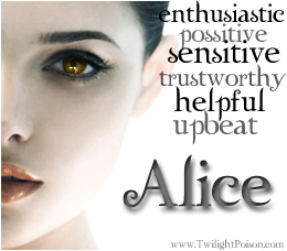 Alice hands down cuz she awesome