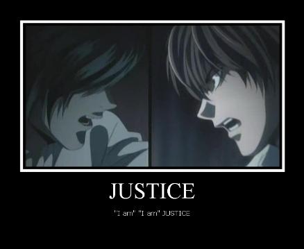 """J-Justice! """"I am"""" """"I am"""" JUSTICE!"""