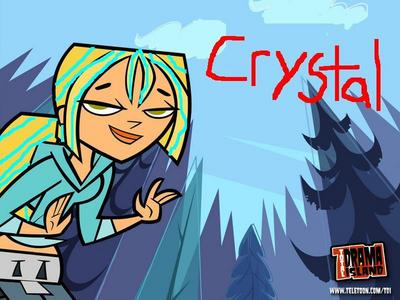 NAME:Crystal LIKES:Justion EYE COLER:Hazel HAIR:blonde with blue streets FRIENDS:Gwen,Trent,Izzy,
