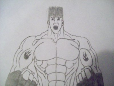 "this characters name is Kaiju (monster) he is 34 years old hes 7'9"" weighs 450 pounds (pure musc"