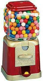 Er, is there a gumball machine in Topher's office? Seems like the kind of thing he'd have, I'm guessi