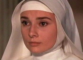 L - Sister Luke (her character in &#39;The Nun&#39;s Story&#39;)