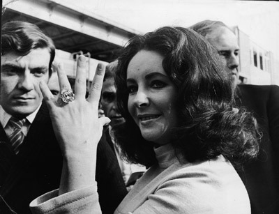 "Q - Quote from Elizabeth Taylor~ ""Big girls need big diamonds."""