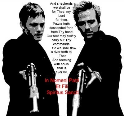"Awww!No one gets my joke!! Thats beat....... u dont get it.. ""May the Boondock Be With You""...... j"