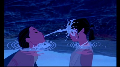 Find a picture of Mulan with a family member.