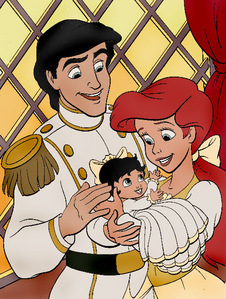Find a picture of Belle with her human Prince.