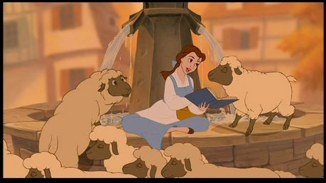Find a picture of Jasmine with Abu.