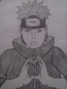 i will try the first hokage soon but i do have a drawing of pein here 당신 go!!!! i dnt no how well it