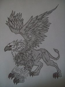 heres the griffin!!!! im workin on the first hokage!!!!