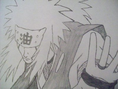 here is jiraiya!!!! still workin on kakashi!!!!