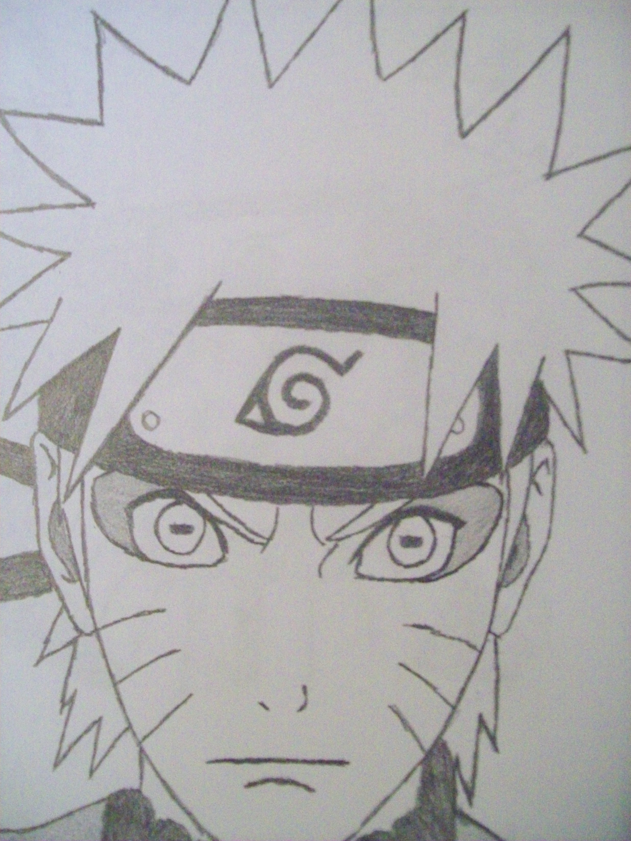 Oh here are two drawings i did of naruto i just got finished with this one