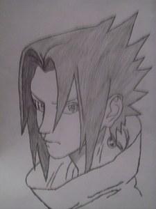 my drawing of young Sasuke!!!! i liked him back then alot!!!!